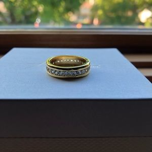 gold plated ring! great condition!